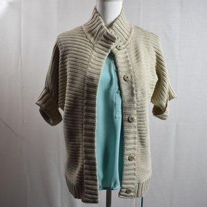 Banana Republic Beige Knit Sweater Size Small